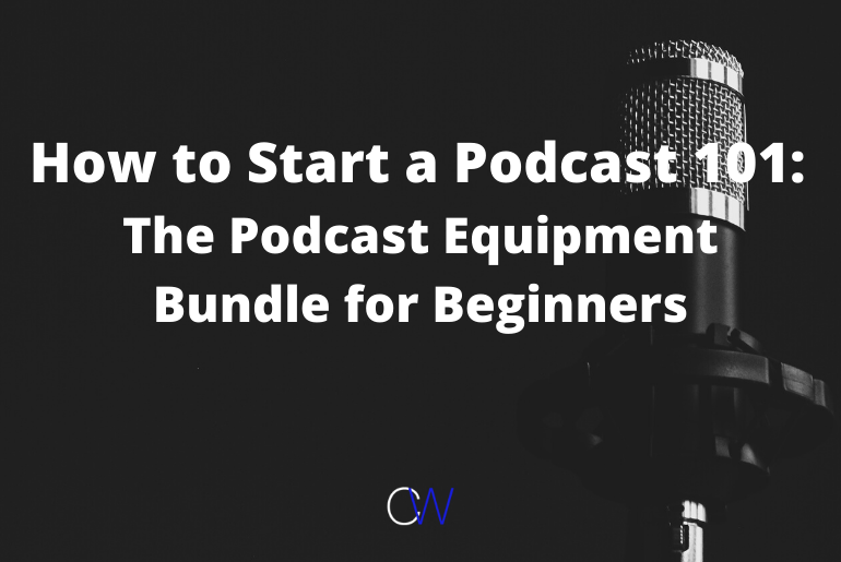 how to start a podcast with microphone in the background
