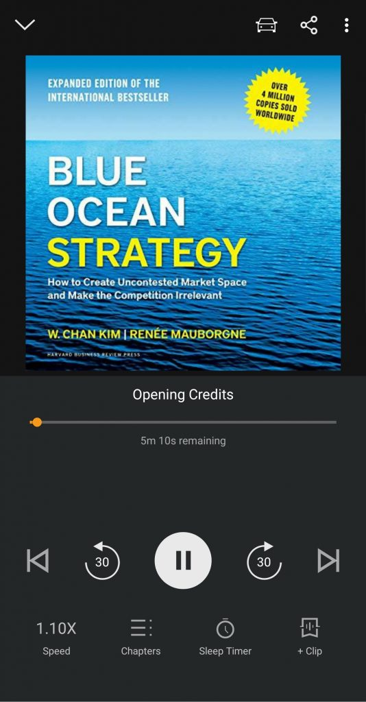 Blue Ocean Strategy on Audible