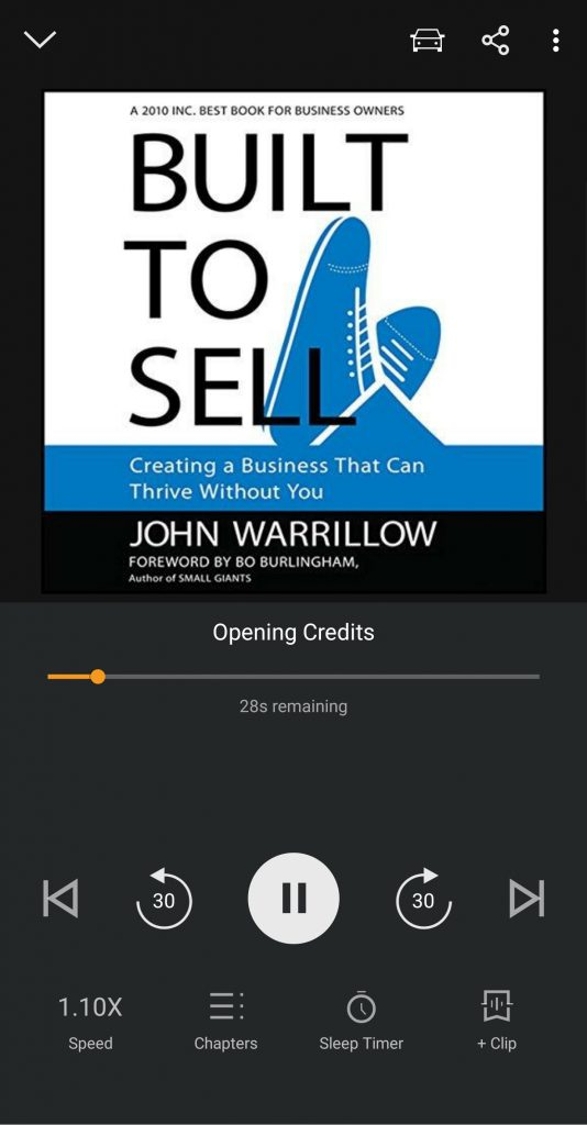 Built to Sell on Audible