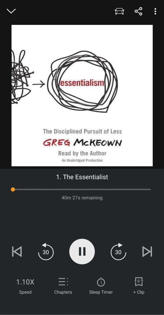 Essentialism on Audible