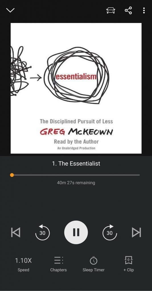 Essentialism on Audible