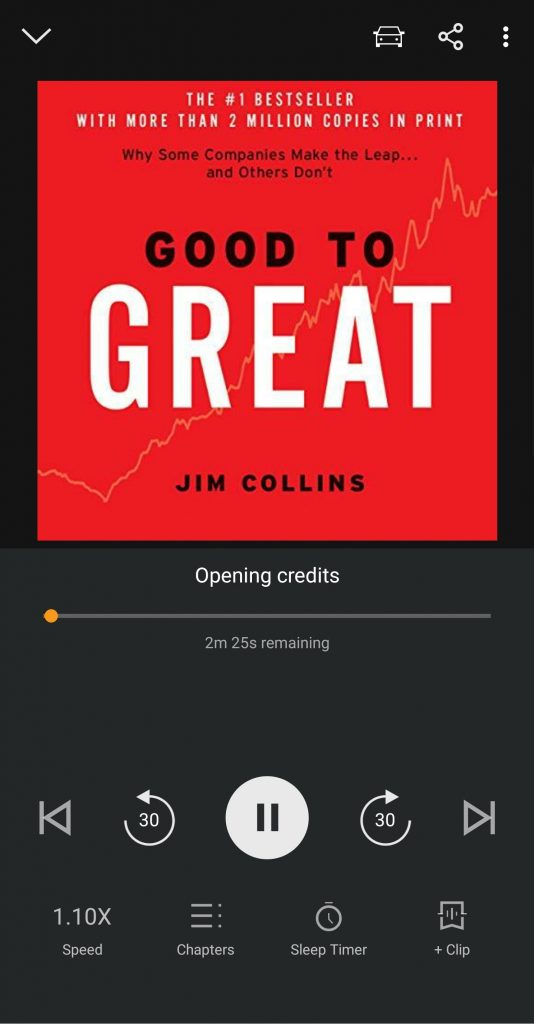 Good to Great on Audible