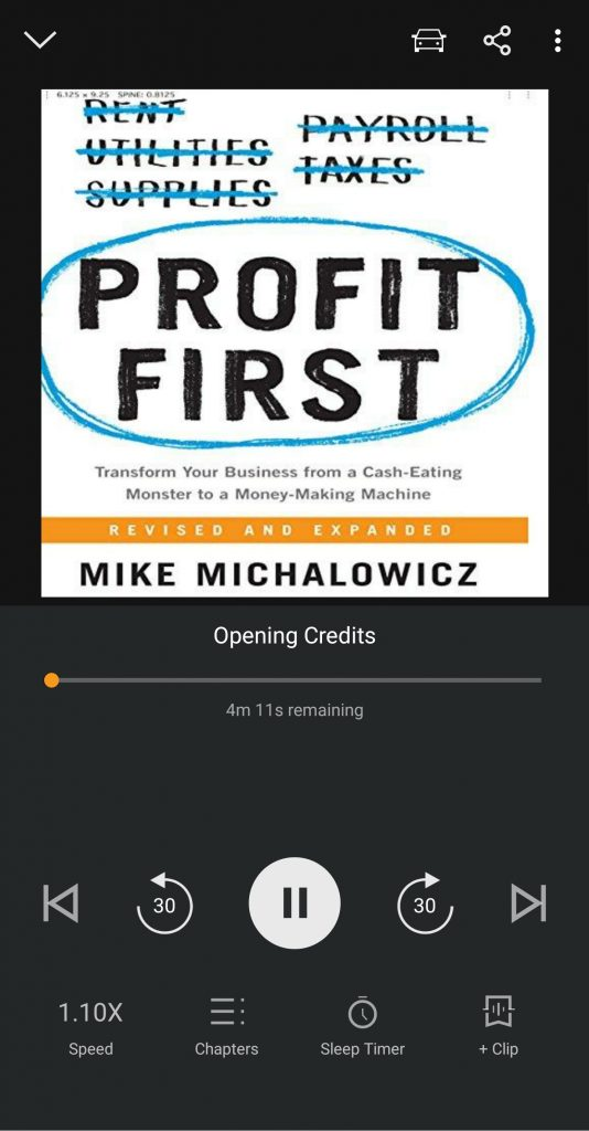 Profit First on Audible