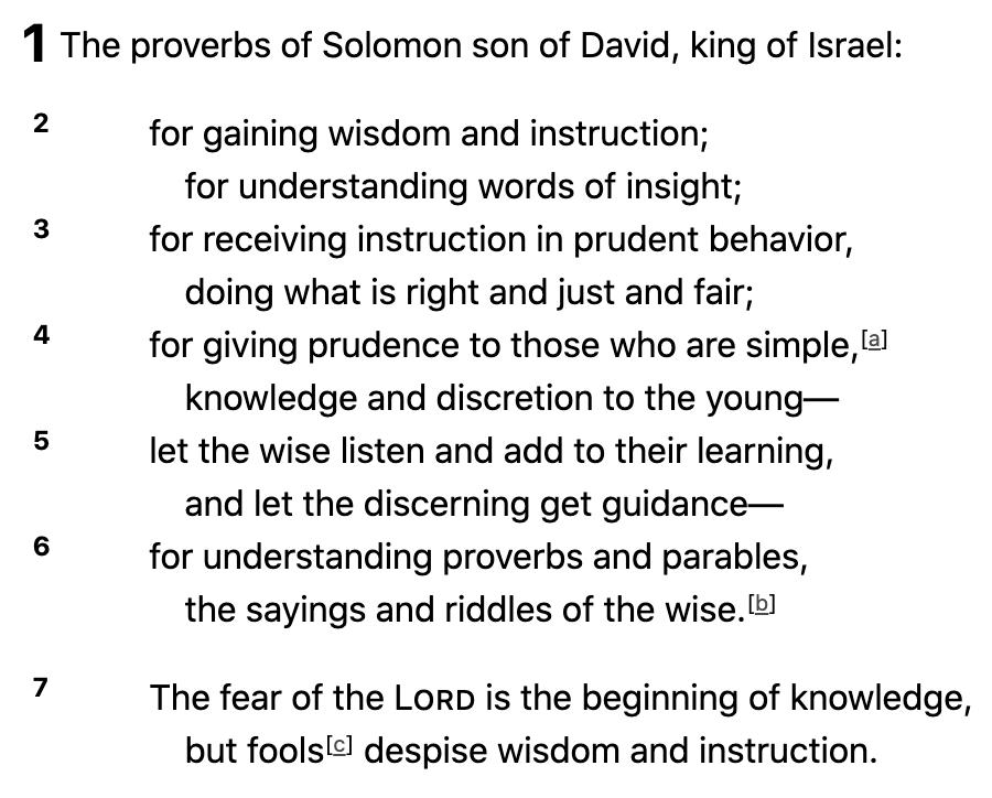 Proverbs of King Solomon