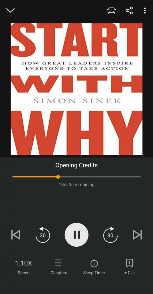 Start with Why on Audible