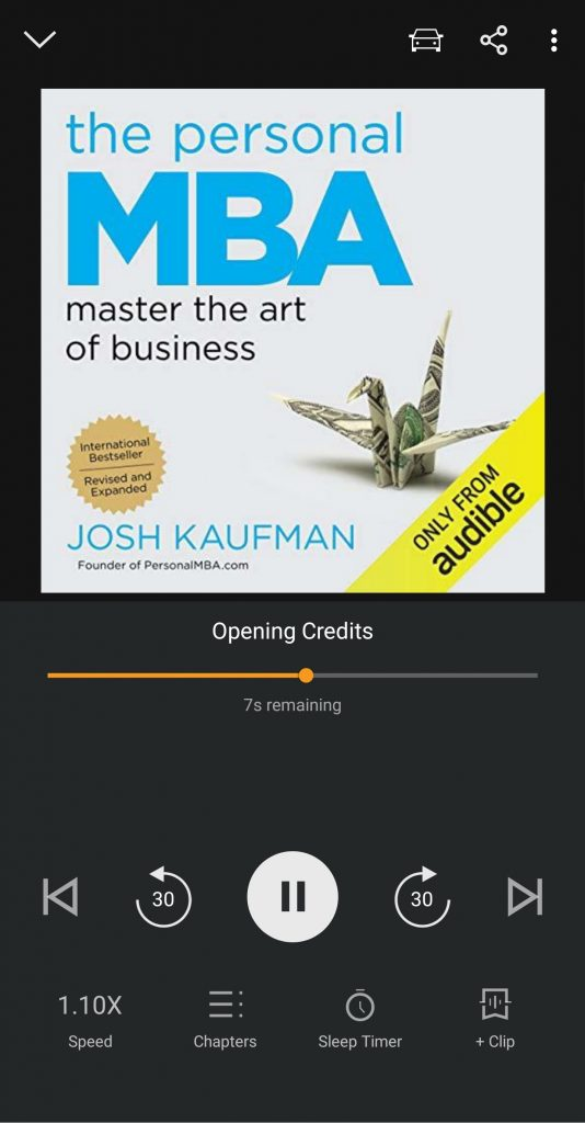 The Personal MBA on Audible