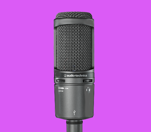 Audio-Technica AT2020USB+ podcast microphone