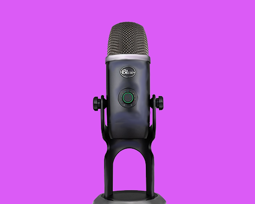 Blue Yeti USB microphone for podcasting