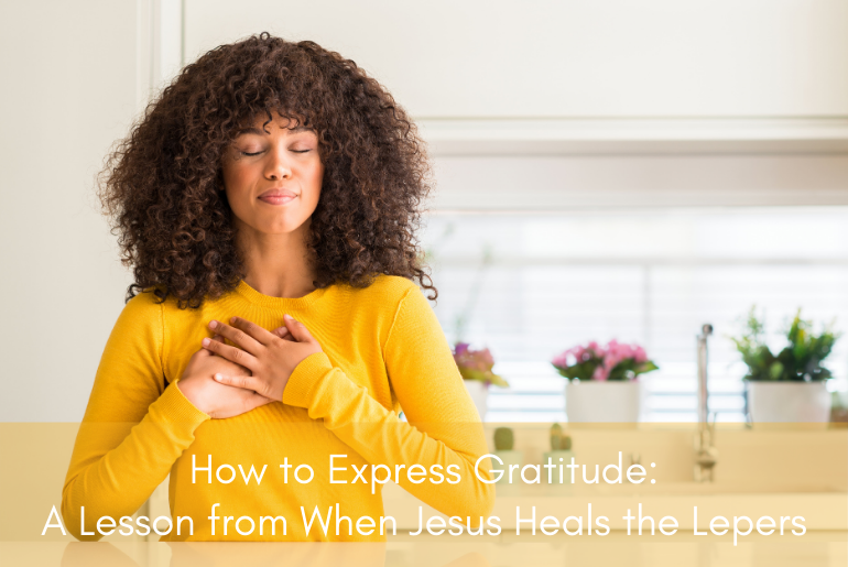A woman showing how to express gratitude