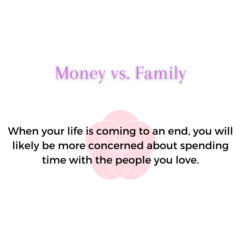 money vs family - work life balance