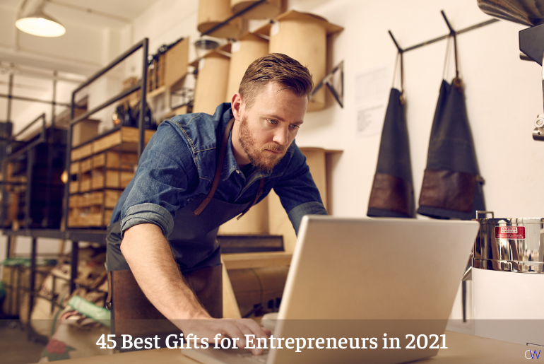 business owner enjoying the best gifts for entrepreneurs