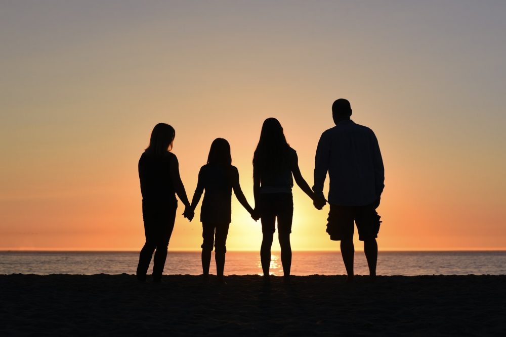 family holding hands - How to find family members
